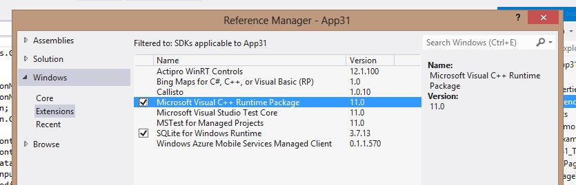 Dodajemy Paczkę SQLite wraz z C++ do referencji
